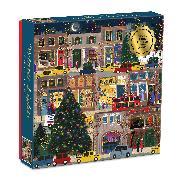 Cover-Bild zu Winter Lights Foil Puzzle 500 Piece Puzzle von Galison