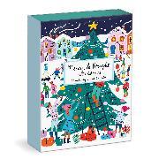 Cover-Bild zu Louise Cunningham Merry and Bright 12 Days of Christmas Advent Puzzle Calendar von Galison (Geschaffen)