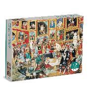 Cover-Bild zu Tribuna of the Uffizi Meowsterpiece of Western Art 1500 Piece Puzzle von Galison
