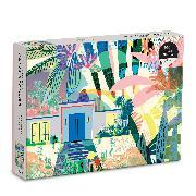 Cover-Bild zu Kitty McCall Palm Springs 1000 Piece Puzzle von Galison
