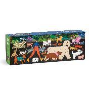 Cover-Bild zu Dog Walk 1000 Piece Panoramic Puzzle von Galison