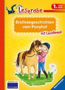 Cover-Bild zu Reider, Katja: Erstlesegeschichten vom Ponyhof - Leserabe 1. Klasse - Erstlesebuch für Kinder ab 6 Jahren