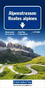 Cover-Bild zu Hallwag Kümmerly+Frey AG (Hrsg.): Alpenstrassen Strassenkarte. 1:750'000