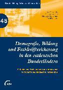 Cover-Bild zu Jahn, Robert W. (Hrsg.): Demografie, Bildung und Fachkräftesicherung in den ostdeutschen Bundesländern (eBook)