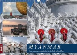 Cover-Bild zu Kruse, Joana: Myanmar, das goldene Land des lächelnden Buddhas (Wandkalender 2022 DIN A3 quer)