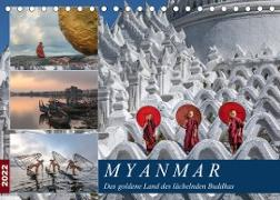Cover-Bild zu Kruse, Joana: Myanmar, das goldene Land des lächelnden Buddhas (Tischkalender 2022 DIN A5 quer)