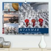 Cover-Bild zu Kruse, Joana: Myanmar, das goldene Land des lächelnden Buddhas (Premium, hochwertiger DIN A2 Wandkalender 2022, Kunstdruck in Hochglanz)