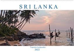 Cover-Bild zu Kruse, Joana: Sri Lanka, tropisches Inselparadies (Wandkalender 2022 DIN A2 quer)