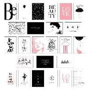 Cover-Bild zu Wirth, Lisa: Schönes Postkarten Set mit 25 modernen und stylishen Postkarten zum Dekorieren oder Verschenken. Feminine Bilder, Sprüche und Statements für Frauen. Hochwertige Spruchkarten in dekorativer Box