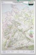 Cover-Bild zu BKG - Bundesamt für Kartographie und Geodäsie (Hrsg.): Poster Landschaftskarte Deutschland 1:750 000 mit Bestäbung. 1:750'000