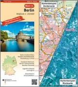 Cover-Bild zu BKG - Bundesamt für Kartographie und Geodäsie (Hrsg.): Berlin Umgebungskarte mit Satellitenbild 1:250.000. 1:250'000