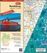 Cover-Bild zu BKG - Bundesamt für Kartographie und Geodäsie (Hrsg.): Rendsburg Umgebungskarte mit Satellitenbild 1:250.000. 1:250'000