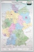 Cover-Bild zu BKG - Bundesamt für Kartographie und Geodäsie (Hrsg.): Verwaltungskarte Deutschland 1 : 750 000. Wandkarte mit Aufhänger und Bestäbung. 1:750'000