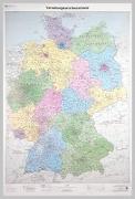 Cover-Bild zu BKG - Bundesamt für Kartographie und Geodäsie (Hrsg.): Verwaltungskarte Deutschland 1 : 750 000. Wandkarte plano, gerollt im Köcher. 1:750'000