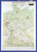 Cover-Bild zu BKG - Bundesamt für Kartographie und Geodäsie (Hrsg.): Übersichtskarte Deutschland 1 : 750 000. Wandkarte mit Aufhänger und Bestäbung. 1:750'000