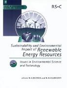 Cover-Bild zu Hester, R E (Hrsg.): Sustainability and Environmental Impact of Renewable Energy Sources (eBook)