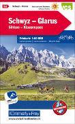 Cover-Bild zu Hallwag Kümmerly+Frey AG (Hrsg.): Schwyz - Glarus - Shilsee - Klausenpass Nr. 12 Velokarte 1:60 000. 1:60'000