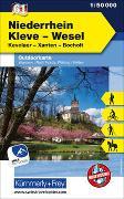 Cover-Bild zu Hallwag Kümmerly+Frey AG (Hrsg.): Niederrhein Kleve-Wesel Nr. 61 Outdoorkarte Deutschland 1:50 000. 1:50'000