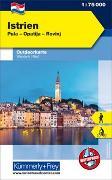 Cover-Bild zu Hallwag Kümmerly+Frey AG (Hrsg.): Istrien Nr. 01 Outdoorkarte Kroatien 1:75 000. 1:75'000