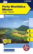 Cover-Bild zu Hallwag Kümmerly+Frey AG (Hrsg.): Porta Westfalica - Minden Nr. 58 Outdoorkarte Deutschland 1:50 000. 1:50'000