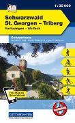 Cover-Bild zu Hallwag Kümmerly+Frey AG (Hrsg.): Schwarzwald - St. Georgen - Triberg Nr. 40 Outdoorkarte Deutschland 1:35 000. 1:35'000