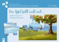 Cover-Bild zu Sprichwort-Bilderpuzzles für Senioren: Der Apfel nicht weit ?
