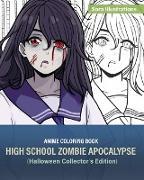 Cover-Bild zu Illustrations, Sora: Anime Coloring Book: High School Zombie Apocalypse (Halloween Collector's Edition)