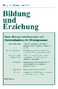 Cover-Bild zu Bildung und Erziehung 3/2011