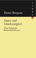 Cover-Bild zu Dauer und Gleichzeitigkeit von Bergson, Henri
