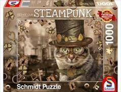 Cover-Bild zu Steampunk Katze 1000 Teile