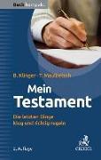 Cover-Bild zu Mein Testament von Klinger, Bernhard F.