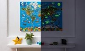 Nachtleuchtende Weltkarte (Poster)