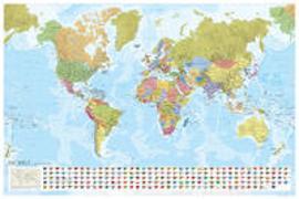 MARCO POLO Weltkarte - Staaten der Erde mit Flaggen 1:35 000 000, Poster. 1:35'000'000