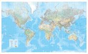 MARCO POLO Die Große Weltkarte (physisch) 1:30 000 000, plano in Hülse. 1:30'000'000