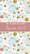 Cover-Bild zu The Treasure of Wisdom - 2022 Pocket Planner - Bubbles and Gold - Copper Rose: An 18 Month Planner with Inspirational Bible Verses von Escribano, Jon Gabriel