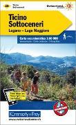 Ticino Sottoceneri - Lugano, Lago Maggiore, Nr. 29 Wanderkarte 1:60 000. 1:60'000 von Hallwag Kümmerly+Frey AG (Hrsg.)