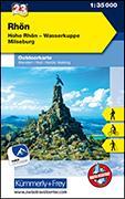 Cover-Bild zu Rhön, Hohe Rhön, Wasserkuppe, Milseburg. 1:35'000 von Hallwag Kümmerly+Frey AG (Hrsg.)