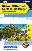 Cover-Bild zu Oberer Mittelrhein Koblenz bis Bingen Nr. 32 Outdoorkarte Deutschland 1:35 000. 1:35'000 von Hallwag Kümmerly+Frey AG (Hrsg.)