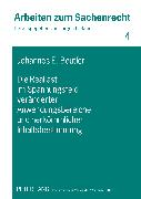 Cover-Bild zu Die Reallast im Spannungsfeld veränderter Anwendungsbereiche und herkömmlicher Inhaltsbestimmung von Beutler, Johannes E.