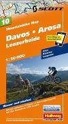 Cover-Bild zu Davos, Arosa, Lenzerheide Mountainbike-Karte Nr. 10, 1:50 000. 1:50'000 von Hallwag Kümmerly+Frey AG (Hrsg.)