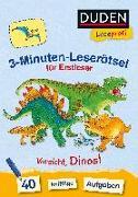 Duden Leseprofi - 3-Minuten-Leserätsel für Erstleser: Vorsicht, Dinos! von Moll, Susanna