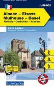 Elsass - Mulhouse - Basel Nr. 02 Outdoorkarte Elsass/Vogesen 1:50 000. 1:50'000 von Hallwag Kümmerly+Frey AG (Hrsg.)
