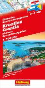 Kroatien, Slowenien, Bosnien-Herzegowina Strassenkarte 1:500 000. 1:500'000 von Hallwag Kümmerly+Frey AG (Hrsg.)