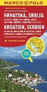 MARCO POLO Länderkarte Kroatien, Serbien, Bosnien und Herzegowina 1:800 000. 1:800'000