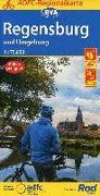 ADFC-Regionalkarte Regensburg und Umgebung mit Tagestouren-Vorschlägen, 1:75.000, reiß- und wetterfest, GPS-Tracks Download. 1:75'000 von Allgemeiner Deutscher Fahrrad-Club e.V. (ADFC) (Hrsg.)