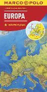 MARCO POLO Länderkarte Europa, physisch 1:2 500 000. 1:2'500'000