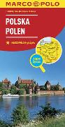 MARCO POLO Länderkarte Polen 1:800 000. 1:800'000