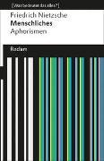 Cover-Bild zu Menschliches. Aphorismen von Nietzsche, Friedrich