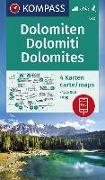 KOMPASS Wanderkarte Dolomiten, Dolomites, Dolomiti. 1:35'000 von KOMPASS-Karten GmbH (Hrsg.)