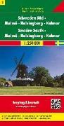Schweden Süd - Malmö - Helsingborg - Kalmar, Autokarte 1:250.000. 1:250'000 von Freytag-Berndt und Artaria KG (Hrsg.)